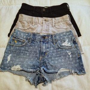 Bundle: Girl's Abercrombie Denim Shorts